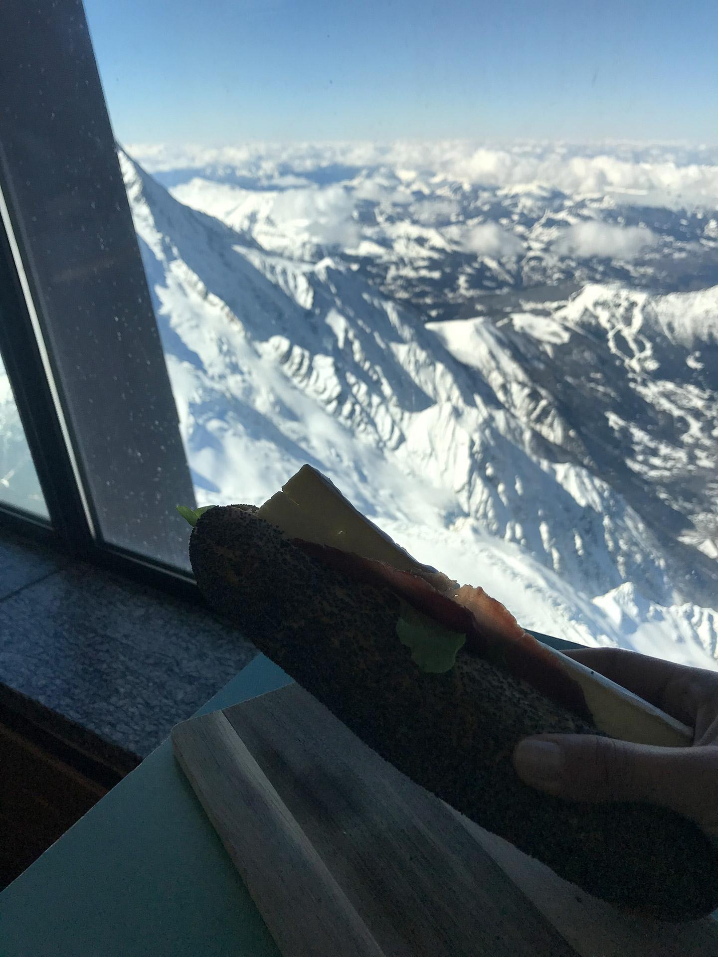 Vue panoramique Chamonix - Caféteria Le Summit