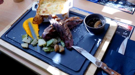 repas à l'adret de la flégère avec l'altibox degustation