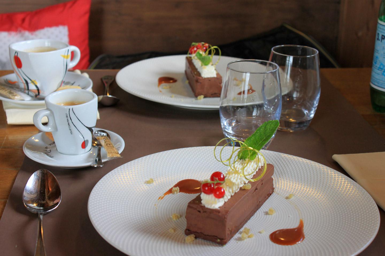 café et dessert chocolaté avec l'altibox degustation