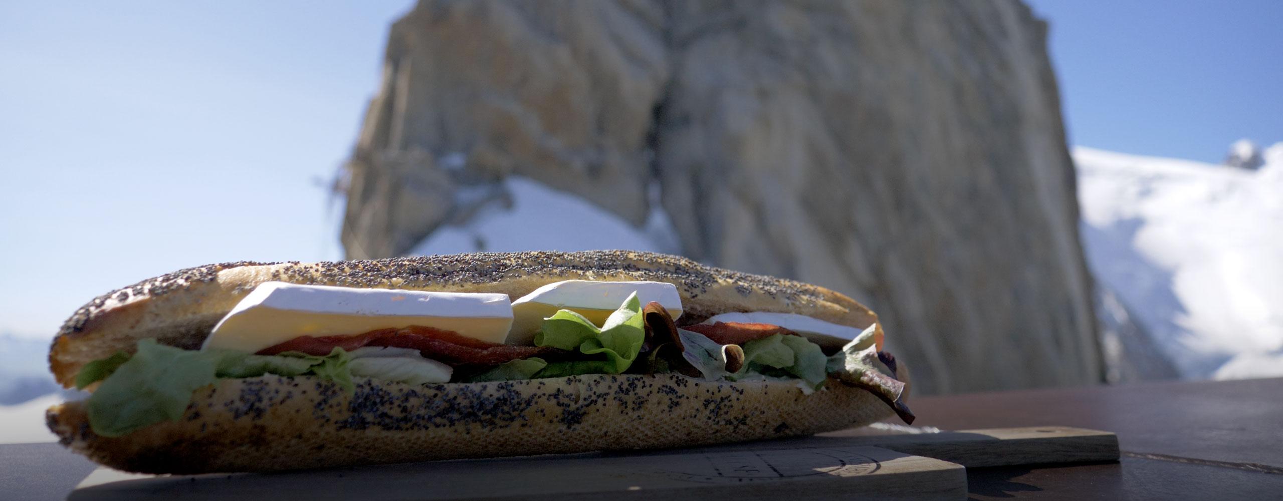 Sandwich à la Caféteria Le summit