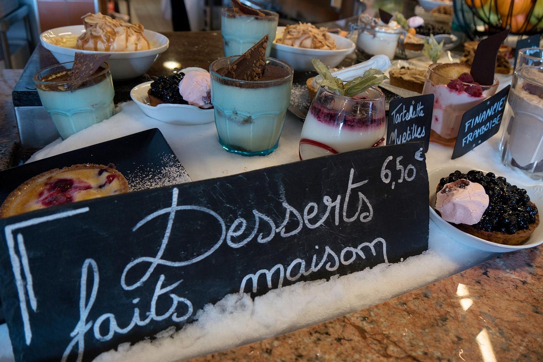 les desserts faits maison du chalet charamillon